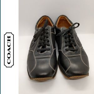 Vintage Coach Zola Black Leather Sneakers Size 8